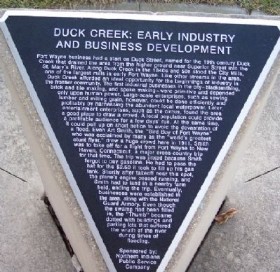 Duck Creek: Early Industry and Business Development Marker image. Click for full size.