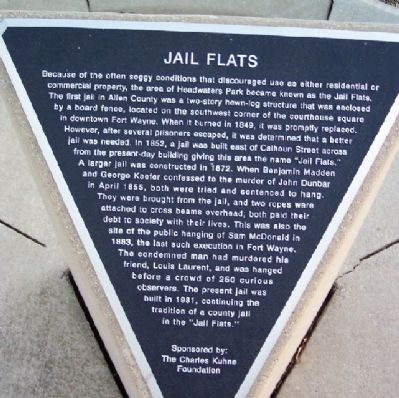 Jail Flats Marker image. Click for full size.