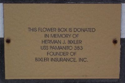 Adams County Veterans Memorial Flower Box Marker image. Click for full size.