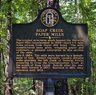 Soap Creek Paper Mills Marker image. Click for full size.