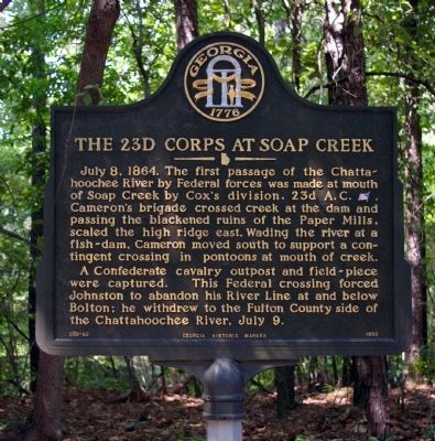The 23d Corps at Soap Creek Marker image. Click for full size.