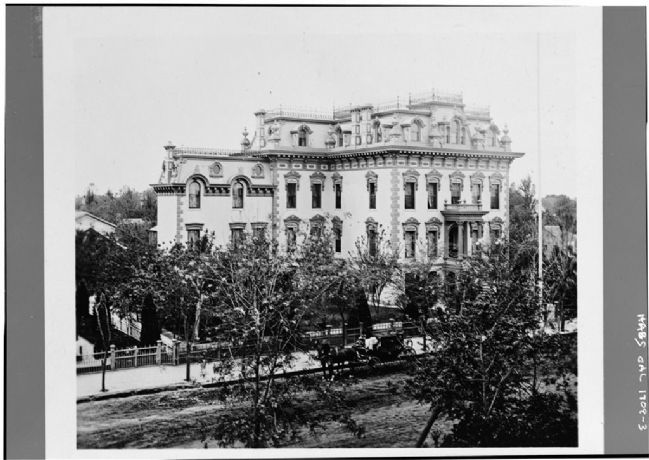 Leland Stanford House - View from Northeast image. Click for full size.