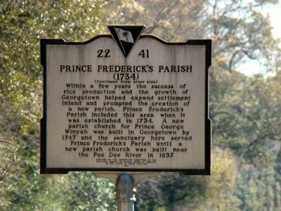 Prince Frederick's Parish Face of Marker image. Click for full size.