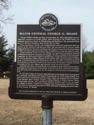 Major General George G. Meade Marker image. Click for full size.