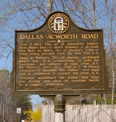 Dallas – Acworth Road Marker image. Click for full size.