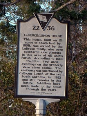 LaBruce/Lemon House Marker image. Click for full size.
