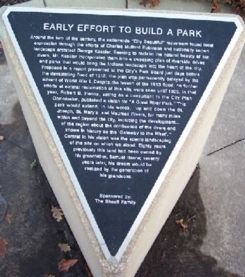 Early Effort To Build A Park Marker image. Click for full size.