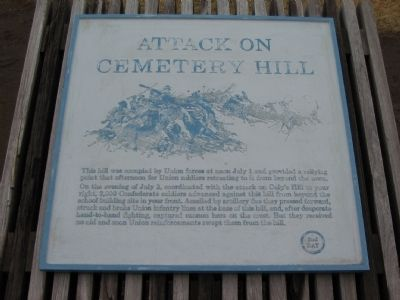 Attack on Cemetery Hill Marker image. Click for full size.