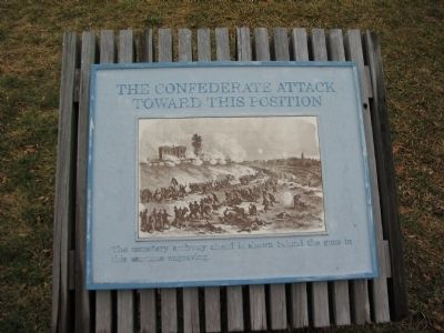 The Confederate Attack Toward this Position image. Click for full size.