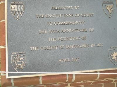 The English Inns of Court Marker image. Click for full size.