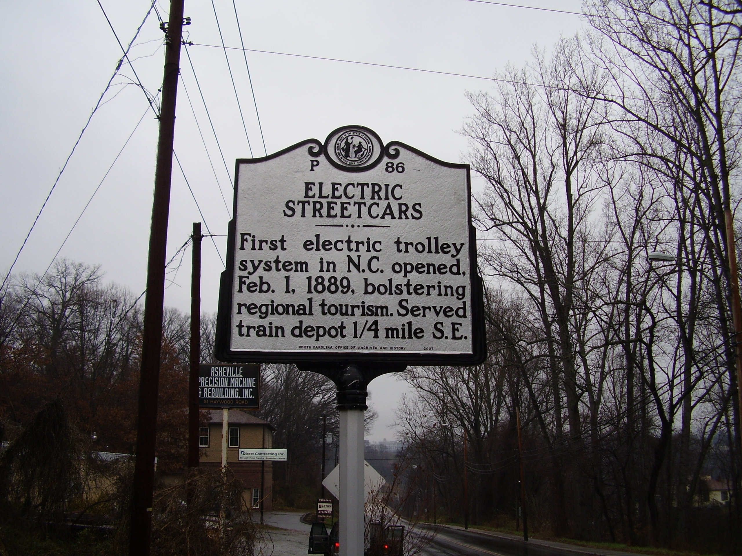 Electric Streetcars Marker