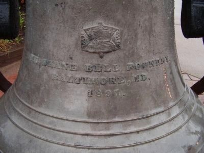 Close up of bell near Civic Pride Marker image. Click for full size.
