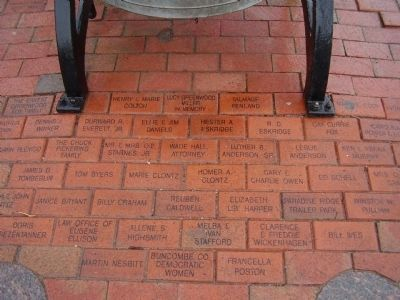 Brick Inscriptions near Civic Pride Marker image. Click for full size.
