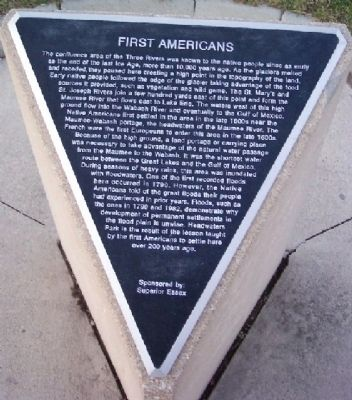 First Americans Marker image. Click for full size.