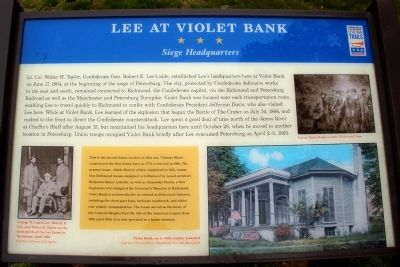Lee at Violet Bank CWT Marker image. Click for full size.