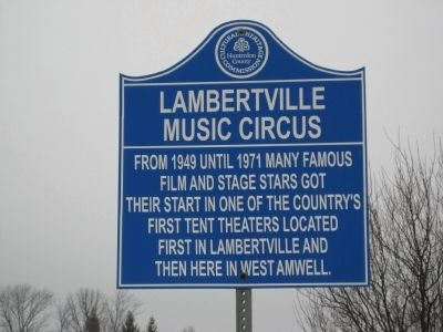 Lambertville Music Circus Marker image. Click for full size.