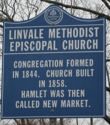 Linvale Methodist Episcopal Church Marker image. Click for full size.