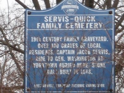 Servis - Quick Family Cemetery Marker image. Click for full size.