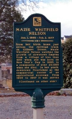 Mazie Whitfield Nelson Marker image. Click for full size.