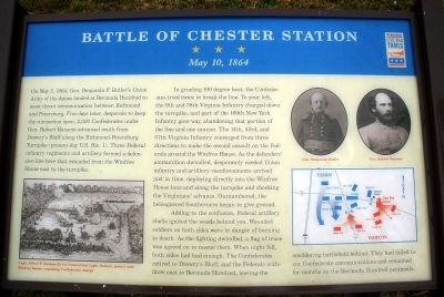 Battle of Chester Station CWT Marker image. Click for full size.