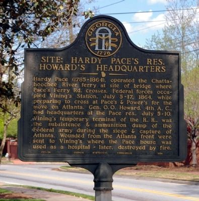 Site: Hardy Pace's Res., Howard's Headquarters Marker image, Touch for more information