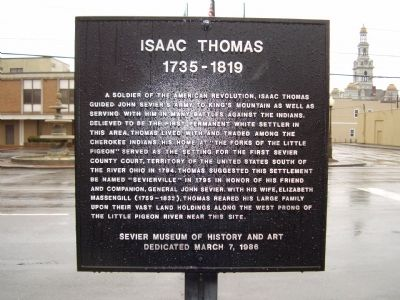 Isaac Thomas Marker image. Click for full size.