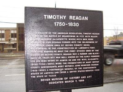 Timothy Reagan Marker image. Click for full size.