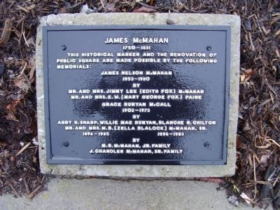 James McMahan Marker image. Click for full size.