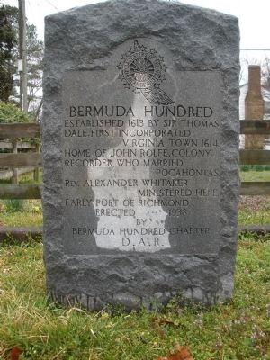 Bermuda Hundred DAR Marker image. Click for full size.