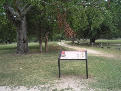 Marker in Jamestown's New Towne image. Click for full size.