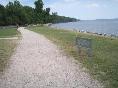 Jamestown Marker on the James River image. Click for full size.