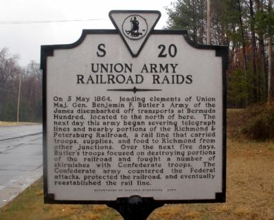 Union Army Railroad Raids Marker image. Click for full size.