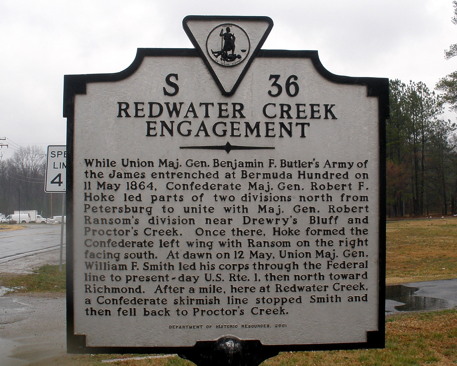 Redwater Creek Engagement Marker
