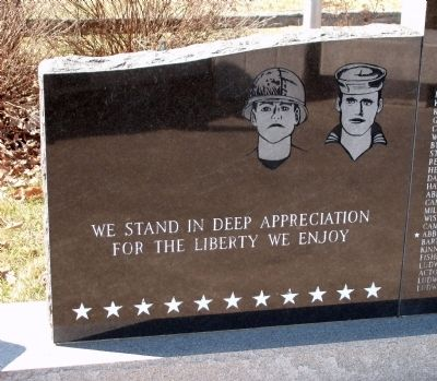 Left Wing - Pilot Township (War) Memorial Marker image. Click for full size.