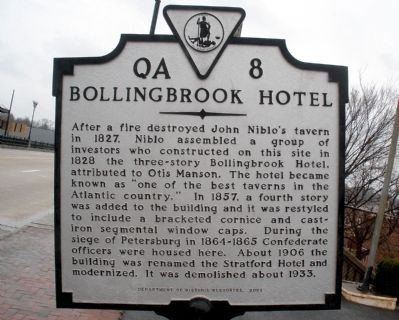 Bollingbrook Hotel Marker image. Click for full size.