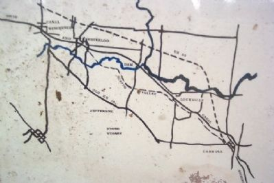 Map Showing Paths of Canal and the Scioto Valley Traction Interurban image. Click for full size.