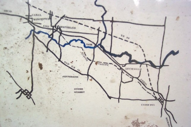 Map Showing Paths of Canal and the Scioto Valley Traction Interurban