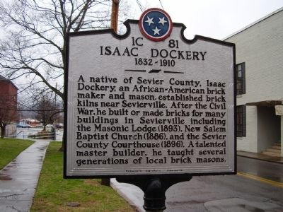 Isaac Dockery Marker image. Click for full size.