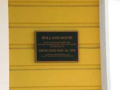 Holland House Marker image. Click for full size.