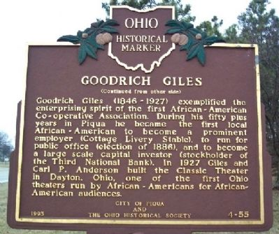 Goodrich Giles Marker (Side B) image. Click for full size.