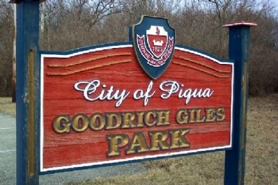 Goodrich Giles Park Sign image. Click for full size.