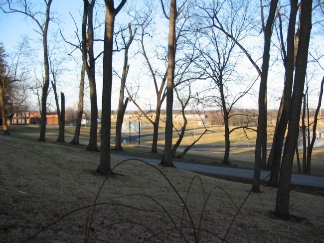 Angle of the Federal Lines on East Cemetery Hill image. Click for full size.