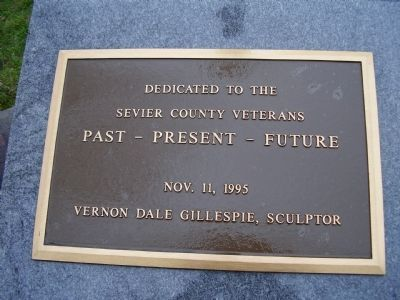 Sevier County Veterans Marker image. Click for full size.