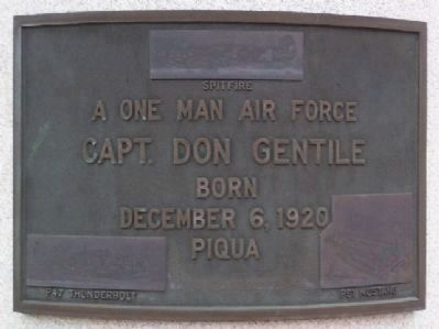 Capt. Don Gentile Marker image. Click for full size.