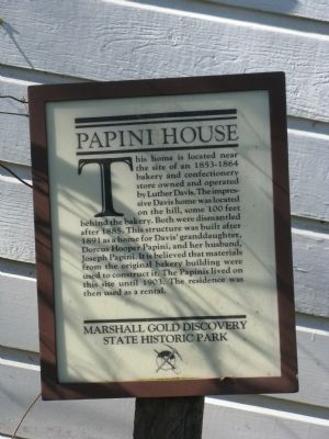 Papini House Marker image. Click for full size.