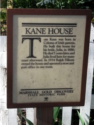 Kane House Marker image. Click for full size.