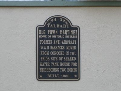 Former Anti-Aircraft W.W. II Barracks Marker image. Click for full size.