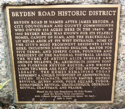 Bryden Road Historic District Marker image. Click for full size.