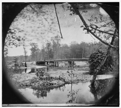 Chickahominy River, Va. Bridge on Mechanicsville road. image. Click for full size.