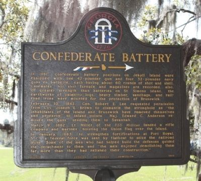 Confederate Battery Marker image. Click for full size.
